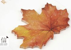 Sticky Notes – Unique red leaf sticky memo – a unique product by qcuteshop on DaWanda
