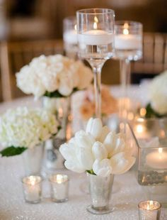 Wedding centerpieces are one of the key positions of the wedding decor. The most impressive, of course, are the floral wedding centerpieces. Tulip Wedding, Wedding Flowers, Dream Wedding, Romantic Flowers, Elegant Flowers, Gold Wedding, Wedding Bride, Wedding Table, Wedding Reception