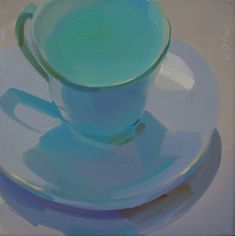 cool, glow, turquoise, still life, cups