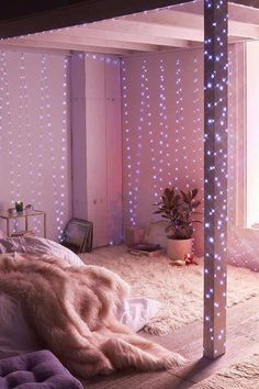Extra Long Galaxy String Lights – NEW ROOM – einrichtungsideen wohnzimmer Cute Room Decor, Teen Room Decor, Room Ideas Bedroom, Bedroom Decor, Bed Room, Budget Bedroom, Bedroom Curtains, Galaxy Bedroom Ideas, Teen Girl Decor