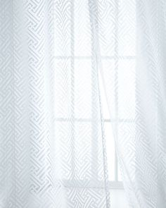 Vivienne Fretwork Sheers by Isabella Collection by Kathy Fielder at Horchow. Girl Cave, Innovation Design, Vivienne, Home Projects, Modern Design, Curtains, Contemporary, Luxury, House