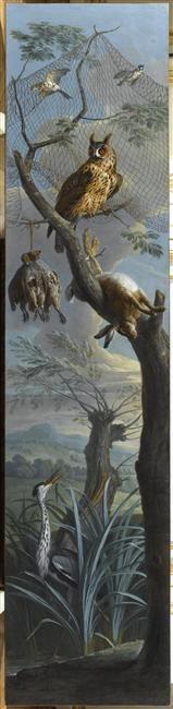 attribué à François Desportes   Lièvre, perdrix et arrtibuts de chasse   Images d'Art