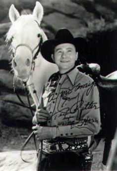 TEX RITTER'S HORSE, WHITE FLASH appeared in 20 films with Tex. In Tex's later films, they used different white horses and still referred to them as White Flash, but the real White Flash was too old to play the part. He was put to sleep in 1961.