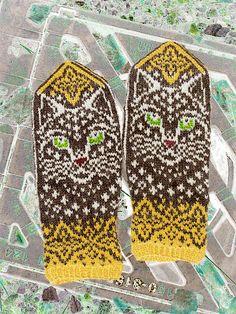 Ravelry: Winter Cat pattern by Natalia Moreva Mittens Pattern, Cat Pattern, Winter Cat, Ravelry, Knit Crochet, Knitting, Angels, Box, Tricot