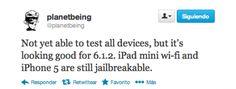 El jailbreak Evasi0n  es compatible con IOS 6.1.2, se puede actualizar sin problemas