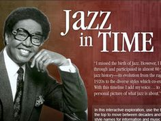 Students in grades 5-12 can read this interactive timeline about the development of jazz (about 30 minutes) and listen to imbedded audio clips.
