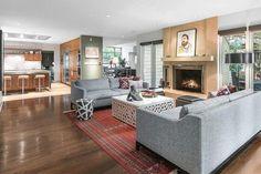 Patrick Mahomes's Sitting Room - Peek Inside NFL Star Patrick Mahomes's Mid-Century Abode - Lonny