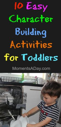Get your child having fun with learning values with these 10 easy character building activities for toddlers. This Website is basically awesome. Toddler Play, Toddler Learning, Toddler Preschool, Toddler Activities, Learning Activities, Montessori, Character Education, Raising Kids, Life Skills