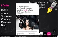 The L'elle is a professional single page creative Agency Showcase Template that scrolls vertically.