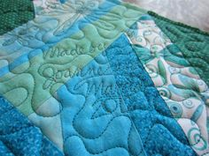 Crafty Sewing & Quilting:  signing quilts