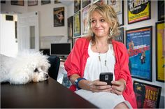 producer Sonia Friedman (with her dog, Teddy!)