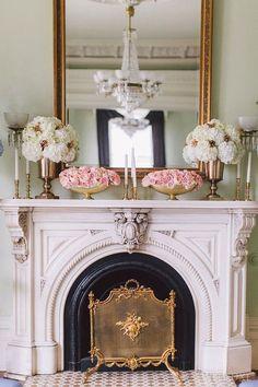 32 Inspiring Vintage Fireplace Design Ideas For Your Living Room, Decor, Fireplace Mantel Decor, House Design, French Fireplace, Parisian Decor, Fireplace Design, Cheap Home Decor, Fireplace, Parisian Interior