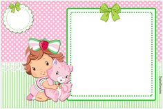New Baby Shower Invitaciones Buhos Ideas Tarjetas Baby Shower Niña, Baby Shower Invitaciones, Strawberry Shortcake Birthday, Strawberry Baby, Bebe Shower, Girl Shower, Foto Frame, Barbie Theme, Congratulations Baby