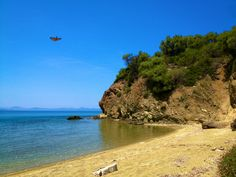 Greek beaches are great! Trikeri Island in Northern Pelion, Prasini Ammos (Green Sand) beach.