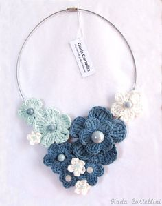 c7323ef04a3b Items similar to MADE TO ORDER - Crochet necklace