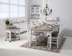 Laulumaa Huonekalut - Ruokailuhuone / keittiö - Laulumaa Viktoria - valkoinen/kuultoharmaa