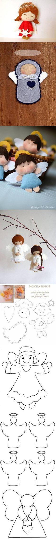 DIY Felt Angels Templates