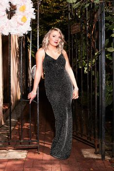 Looking to glow for your holiday look this year? This slinky, glittery sheath gown is the perfect one for you! The glitter fabric of the dress catches the light beautifully! Spaghetti straps and a flattering ruched v-neckline bring the entire dress together | #holidaydresses #holidaypartydresses #2020holidaypartydresses | Style WBM2434V2 | Shop this style and more at davidsbridal.com Holiday Party Dresses, Holiday Parties, New Years Eve Dresses, Necklines For Dresses, Stretch Satin, Davids Bridal, Get Dressed, Dress Making, Dress To Impress