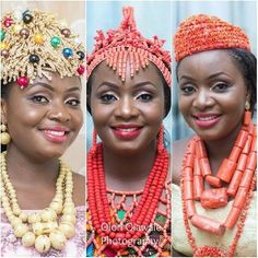 Olori Olawale Photography Nigerian Wedding: 20 Beautiful Rivers/ Ijaw Brides, Their Style,  Their Flawless Makeovers | Nigerian Wedding