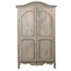 Painted 19th Century Armoire | From a unique collection of antique and modern wardrobes and armoires at https://www.1stdibs.com/furniture/storage-case-pieces/wardrobes-armoires/