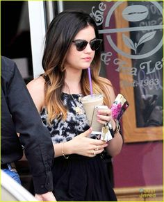 Lucy Hale Wears Lucky Elephant Necklace For Coffee Pick Up | lucy hale lucky elephant necklace starbucks 04 - Photo