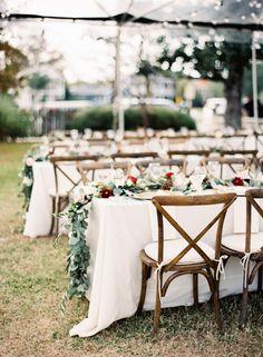 Rustic glam table decor: http://www.stylemepretty.com/little-black-book-blog/2016/05/04/wedding-photographers-own-big-day-new-orleans-winter-wedding/   Photography: Marissa Lambert - http://marissalambertphotography.com/