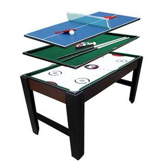 This Game Table Has Something For Everyone! It Boasts A Convertible Design  That Lets You Play Pool, Air Hockey, Table Tennis Or Foosball. Its MDF And  Pa
