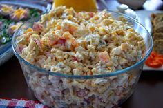 Sałatka z zupek chińskich z kurczakiem Pasta Salad, Salad Recipes, Potato Salad, Grains, Potatoes, Ethnic Recipes, Food, Yummy Yummy, Recipies