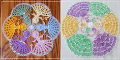 Delicadezas en crochet Gabriela: Centro de mesa con diseño de damas antiguas