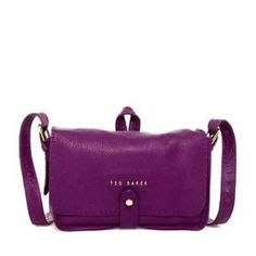 Ted Baker London Gaiton Stab Stitch Leather Crossbody