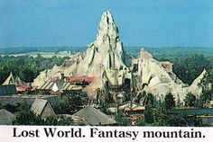Fantasy Mountain at Kings Dominion.  Attractions included: Haunted River, Journey to the Land of Dooz (Later Smurf Mountain), and Time Shaft.
