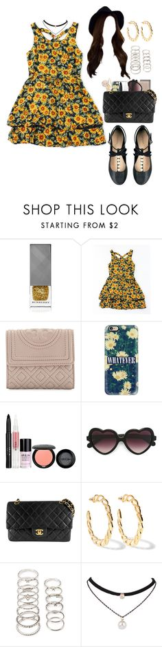 """""""Untitled #608"""" by eduardafrancisca69 ❤ liked on Polyvore featuring Burberry, Tory Burch, Topshop, Casetify, Stila, Cutler and Gross, Chanel, Kenneth Jay Lane and Forever 21"""