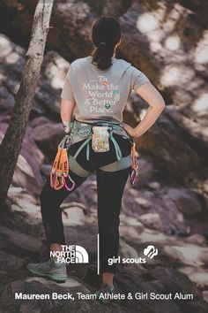 Join us and @gsusa in encouraging the next generation of female explorers with our limited-edition T-shirt. $15 from every T-shirt sold will be donated to Girl Scouts of the USA to support membership scholarships in communities impacted by COVID-19. Put yours on and break barriers, then swing by our Campfire Chat on September 22 at 1 PM ET to learn about the healing powers of the outdoors. Click the link to learn more. Powerful Images, September 22, Junya Watanabe, Move Mountains, Never Stop Exploring, The Next, Girl Scouts, Role Models, Climbing