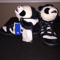 quality design c7103 ab985 Jeremy Scott x Adidas Shoes   Adidas Js (Jeremy Scott) Panda Bear Sneakers    Color  Black White   Size  10