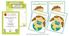 Bilingual Earth-Friendly Printables from via mommymaestra http://www.mommymaestra.com/2012/03/bilingual-earth-friendly-printables.html
