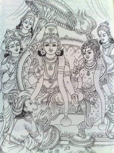 Mysore Painting, Kerala Mural Painting, Kalamkari Painting, Tanjore Painting, Ganesha Painting, Ganesha Art, Silk Painting, Black Canvas Paintings, Indian Art Paintings