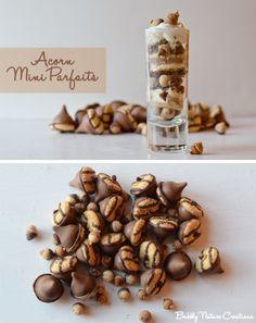 acorn mini parfaits using teeny tiny acorn cookies!