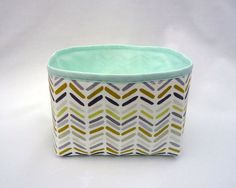 Fabric storage basket / Small storage bin / Multicolored by Apozi