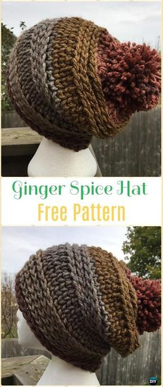 Crochet Ginger Spice Hat and Cowl Set Free Pattern - Crochet Beanie Hat Free Patterns #CrochetPatterns