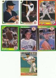 7 Boston Red Sox assorted Baseball Cards