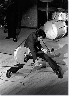 Elvis Presley on stage in Las Vegas, 1969.