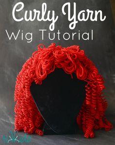 Yarn Wig, Hair Yarn, Yarn Dolls, Sock Dolls, Brave Costume, Doll Costume, Crochet Wig Pattern, Crochet Wigs, Kids Crochet