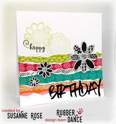 Susanne Rose Designs: Use your Scraps with DCWV and Rubber Dance