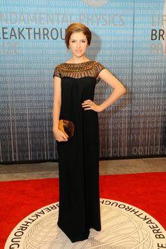 Anna Kendrick Cinderella Gold Dress