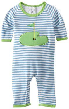 Mud Pie Newborn Baby-Boys Golf Sleeper, Blue/White/Green, 0-6 Months
