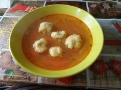 Gölődin leves   Gyöngyi 💇♀️ receptje - Cookpad receptek Cheeseburger Chowder, Thai Red Curry, Soup, Meat, Chicken, Ethnic Recipes, Soups, Cubs