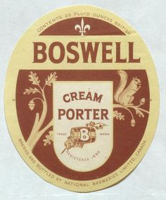 Boswell Cream Porter by Thomas Fisher Rare Book Library, via Flickr