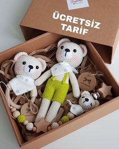 ✔ Handmade Toys For Kids Teddy Bears Crochet Baby Toys, Crochet Bear, Crochet Animals, Crochet Dolls, Baby Knitting, Kit Bebe, Lol Dolls, Baby Rattle, Amigurumi Toys