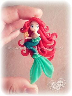 #ariel #fimo #polymer #clay #creazioni #franzin #doll #little #mermaid #sirenetta #conchiglia #shell