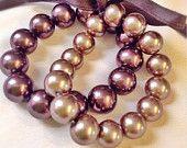 Café Mocha necklace and bracelet set